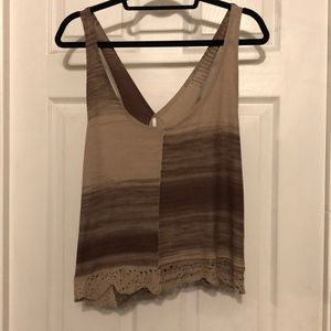 FREE PEOPLE knit open back tank